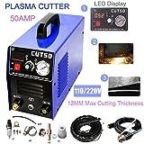 "Cut50 110/220V Dual Voltage Plasma Cutter 50Amps Compact Metal Cutter 1/2"" Clean Cut"