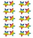 20pcs Women Adhesive Nipple Cover Disposable Lingerie Pasties Star (rainbow) offers