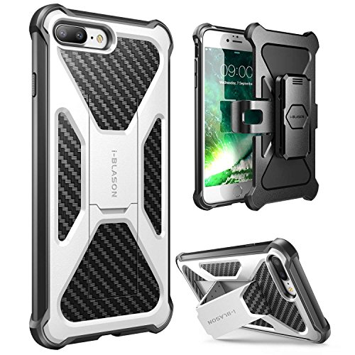 iPhone 7 Plus Case, iPhone 8 Plus Case, i-Blason Transformer [Kickstand] [Heavy Duty] [Dual Layer] Combo Holster Cover case with [Locking Belt Swivel Clip] for Apple iPhone 7 Plus 2017 ()