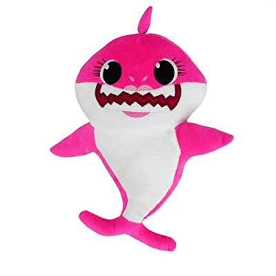 Shark Plush Baby Toy Singing Shark Toys Song for Children's Soft Stuffed Animal Doll (Pink): Toys & Games
