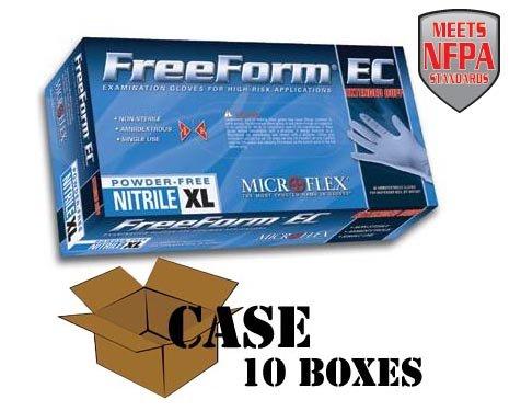 Microflex - FreeForm EC Blue Disposable Nitrile Gloves - Case Size Large