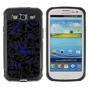 Suave TPU GEL Carcasa Funda Silicona Blando Estuche Caso de protección (para) Samsung Galaxy S3 III I9300 / CECELL Phone case / / Dark Pattern /