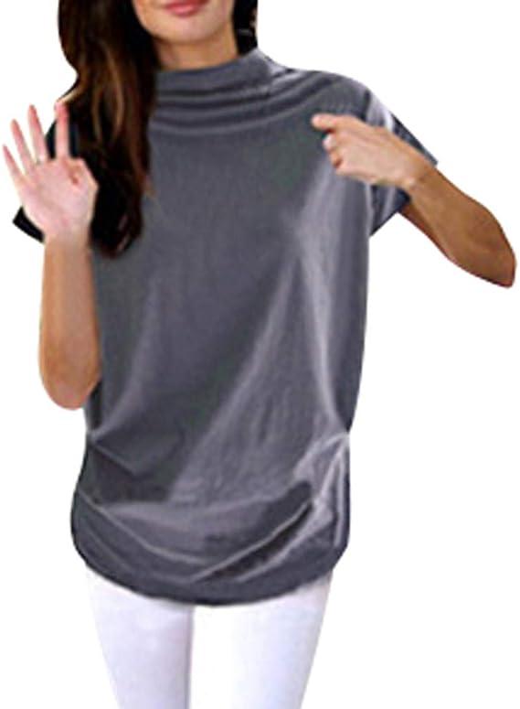 Auifor Camisa de Mujer con Talla Grande, Blusa Cruzada