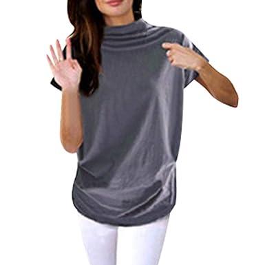 962ee4e27d8 MVPKK T-Shirts Femme Chic T-Shirts Moulante Femme T-Shirts Classique Femme