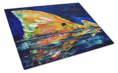 - Caroline's Treasures MW1276LCB Flipper Red Fish Glass Large cutting-boards, 12H x 16W, Multicolor