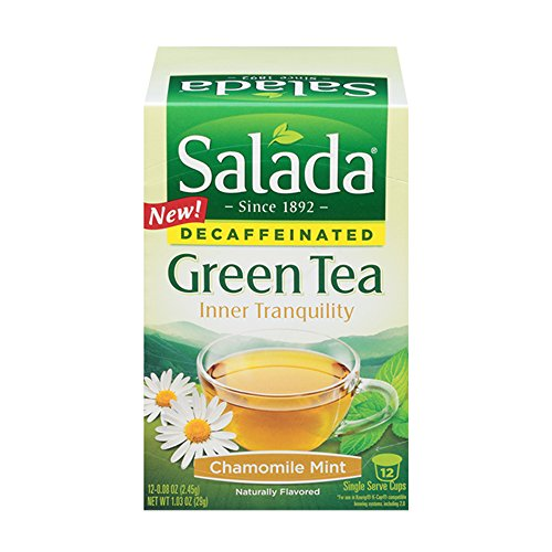 Salada Inner Tranquility Chamomile Mint Decaffeinated Green Tea Single Serve