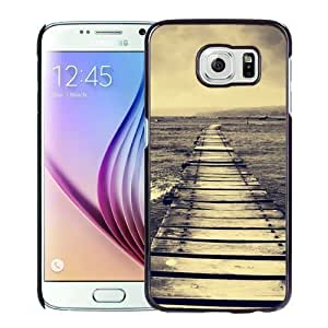 NEW Unique Custom Designed Samsung Galaxy S6 Phone Case With Lake Dock Lockscreen_Black Phone Case