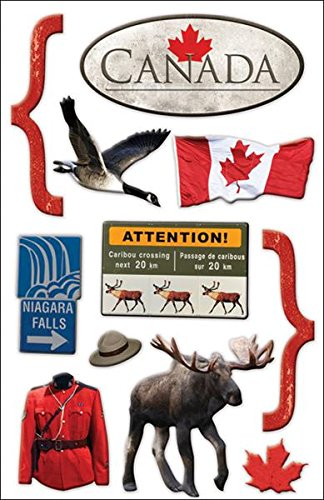 Paper House Productions STDM-0041E 3D Cardstock Stickers, Canada - Scrapbook Stickers Canada