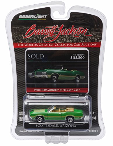1970 OLDSMOBILE CUTLASS 442 (Jade Green) * Scottsdale Edition * Barrett-Jackson Series 1 Greenlight Collectibles 2016 Limited Edition 1:64 Scale Die-Cast Vehicle