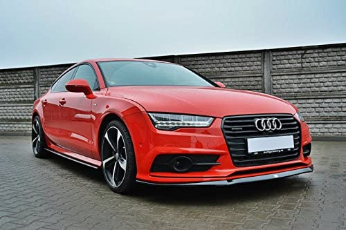 Maxton Design Front Splitter Spoiler Compatible with Audi A7 S-Line Facelift
