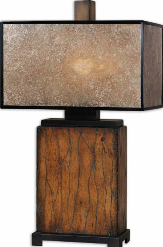 Rustic Mahogany Sitka Lamp Model-26757-1 (Uttermost Rustic Floor Lamp)
