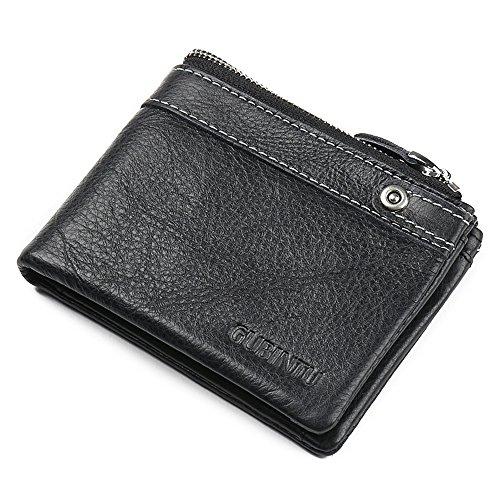 VRLEGEND Trifold Genuine Leather Billfold