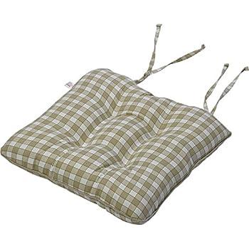 Amazon Com 100 Cotton Gingham Check Square Seat Pad