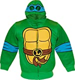 Teenage Mutant Ninja Turtles LEO Reptilian Print Costume Hoodie (Boys XS-4/5)