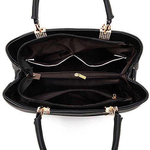 MIMI KING Frauen-Einkaufstasche-Mode-Shell-Form-Bogen-Reine Farben-PU-Leder-Schulter-Umhängetaschen Pink 23P6qVwUwx