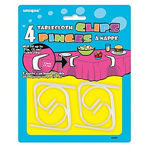 Large Plastic Tablecloth Clips 4ct