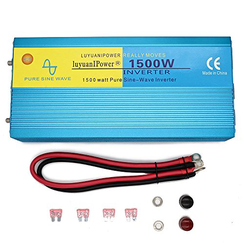 Cantonape Car Boat RV 1500W/3000W(Peak) Pure Sine Wave Power Inverter DC 12V to 110V AC with LCD Display by Cantonape (Image #6)