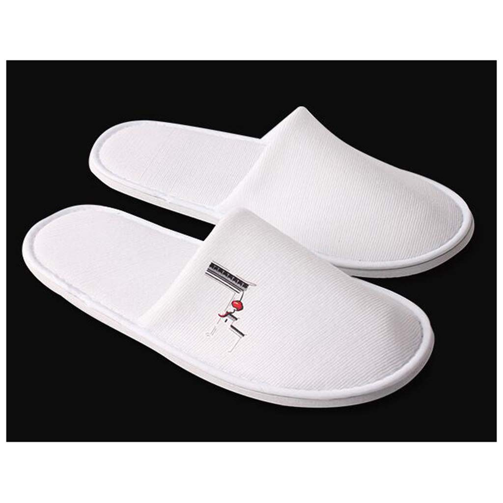White 100 pairs GZZ Disposable Slippers White Disposable Slippers Men's Slippers Women's Home Hospitality Disposables Hotel Rooms Real Beauty Slippers Unisex Clubhouse Beauty Slippers 28.8  11.2cm