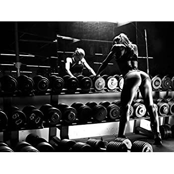 Newbrightbase Bodybuilding Fitness Motivation Motivational Fabric Cloth Rolled Wall Poster Print Size 32 X 24 17 X 13