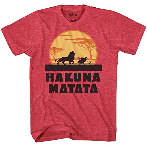 Lion King Hakuna Matata Pumbaa Simba Mufasa Tee Adult Graphic T-Shirt