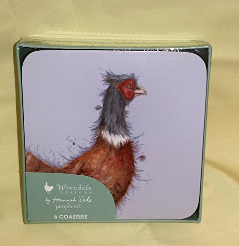 - Wrendale Pheasant Coasters, Set of 6