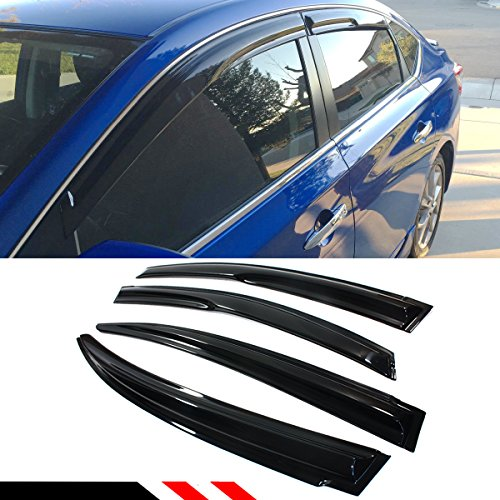Cuztom Tuning JDM SMOKED WINDOW VISOR VENT SHADE FOR 2013-2017 NISSAN SENTRA SEDAN