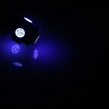 UK NEW 2019 ULTRAVIOLET UV LED BULBS SHOW CAR INTERIOR DOME FOOT WELL DASHBOARD T10 W5W 501 PUSH FIT BULBS Car-LED