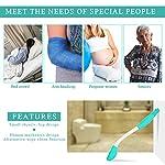 Bottom Wiper, Long Handle Reach Comfort Wiper Holder Toilet Paper Tissue Grip Self Wipe Aid Helper Designed for The Elderly and Pregnant Women