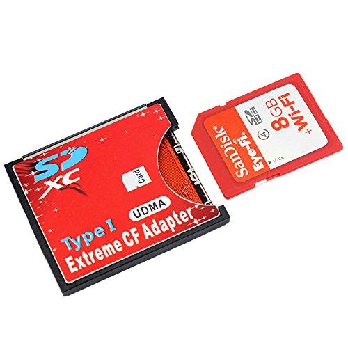 Tenflyer New SDXC SDHC WIFI SD I Compactflash-Karte Adapter CF Adapter maximale Unterstützung 2TB Typ