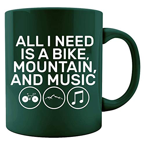 All I Need Is A Bike Mountain And Music Creative Art Design - Colored - Mountain Music 25