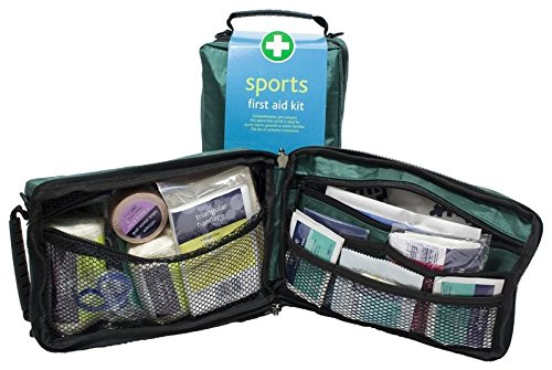 Sports First Aid Kit Complete in Green Zip Around Bag