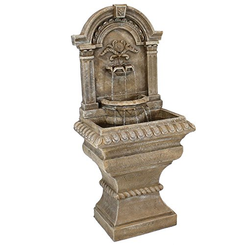 Sunnydaze Ornate Lavello Outdoor Water Fountain with Electric Submersible Pump, 51-Inch by Sunnydaze Decor