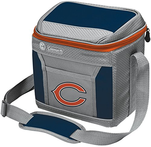 Coleman NFL Soft-Sided Insulated Cooler Bag, 9-Can Capacity with Ice, Chicago Bears