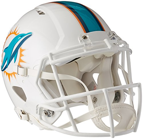 Miami Dolphins Riddell Speed Revolution Full Size Authentic NFL Proline Football Helmet - New 2013 Helmet