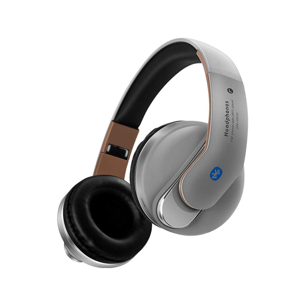 Aawqe Selling Hands-Free FM Radio Wireless Bluetooth Headset HD Microphone Stereo Music Headphones (Color : D)