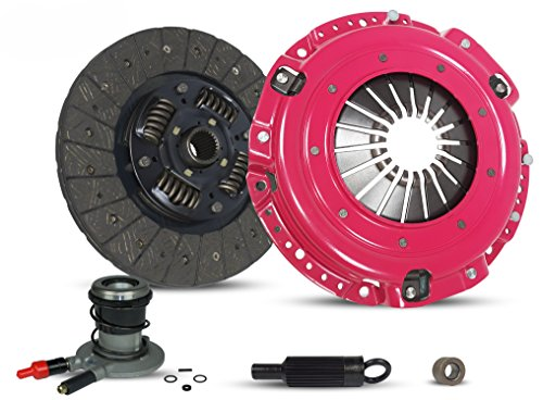 (Clutch Kit And Slave Works With for Chevy Camaro Pontiac Firebird Base RS Coupe Convertible 2-Door 1996-2002 3.8L V6 GAS OHV Naturally Aspirated (Stage 1))