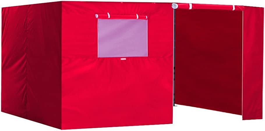 Amazon Com Eurmax Zippered Walls For 10 X 15 Canopy Tent Enclosure Sidewall Kit With Roller Up Mesh Window And Door 4 Walls Only Red Garden Outdoor