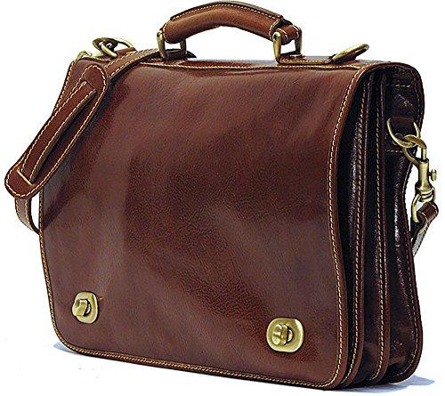 [Custom]Floto Unisex Roma Messenger Bag in Brown by Floto
