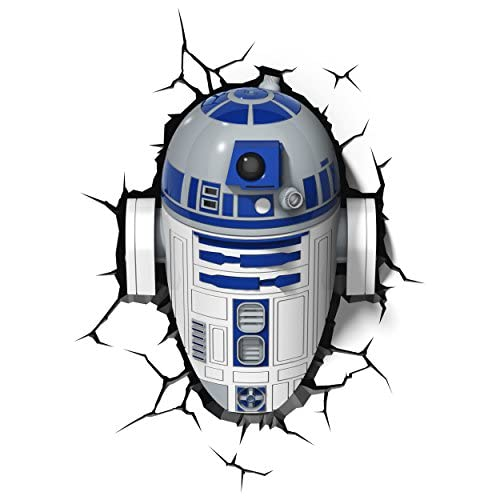 chollos oferta descuentos barato Star Wars FX14233 Lampara 3D de Pared R2 D2 Multicolor