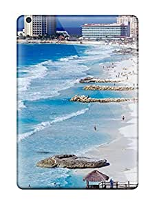 RLUEmPi3169poZwX CaseyKBrown Awesome Case Cover Compatible With Ipad Air - Cancun Shoreline Mexico