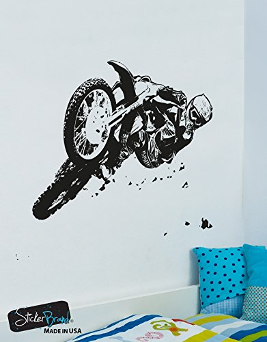 Xtreme Sports Vinyl Wall Decal Sticker Motocross Jump Riding #OS_AA196B 60in X 77in - Returns Moto X