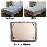 Abode1st Bed Sheet Fasteners, 4 PCS Adjustable