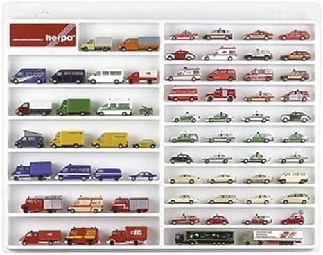 Herpa 029223 automóviles vitrina blanco 57cm x 45cm x 3,5cm scale 1 87