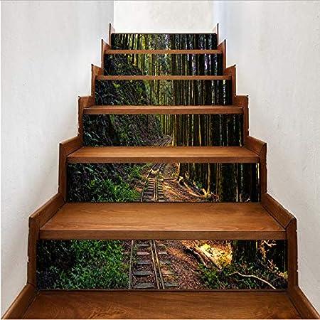 tonywu Escalera Decorativa Paisaje Natural Sendero de Bambú Creativo Moderno DIY Pasos Etiqueta Extraíble Etiqueta de La Escalera Decoración para El Hogar Azulejos de Cerámica Patrones: Amazon.es: Hogar