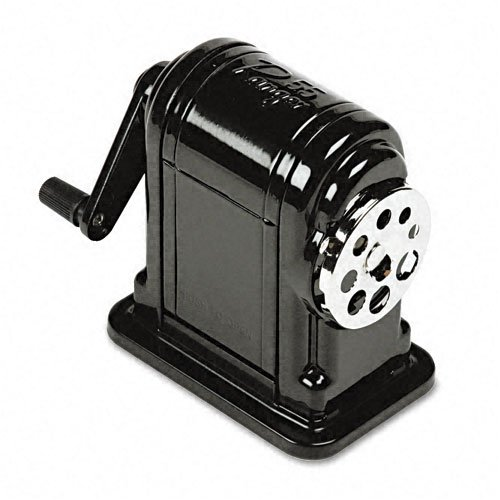 X-ACTO : Boston Ranger 55 Table-Mount/Wall-Mount Manual Pencil Sharpener, Black -:- Sold as 2 Packs of - 1 - / - Total of 2 Each