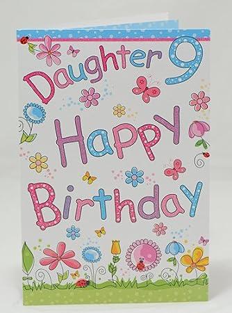Happy birthday daughter 9th birthday card amazon office happy birthday daughter 9th birthday card bookmarktalkfo Images