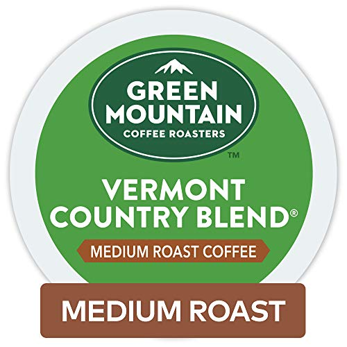 - Green Mountain Coffee Roasters Vermont Country Blend Keurig Single-Serve K-Cup Pods, Medium Roast Coffee 72 Count (6 Boxes of 12 Pods)