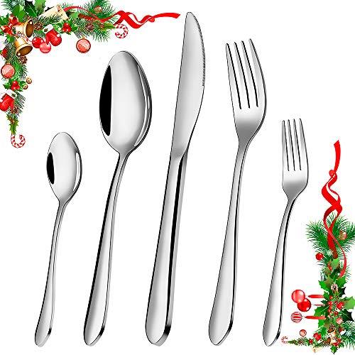 Silverware Set, Elegant Life 60Pcs Flatware Cutlery Set Stainless Steel Utensils Set Service for 12 Includes Knives…