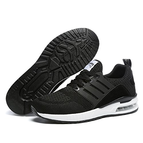 Chaussure Basses Noir Gym Fitness Running Mixte Sneakers Baskets Mode Sport Tqgold Adulte De wx4qFyUt