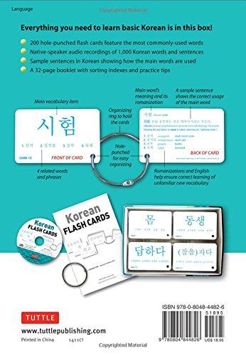 Amazon.com: Korean Flash Cards Kit: Learn 1,000 Basic Korean Words ...